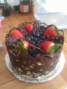 I've made chocolate cage cakes before, but never brilliantly. In fairness, this isn't brilliant but it did get a lot of attention. ...