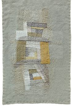 The completed sample is overstitched with dense white, silk running stitches (30 x 20cm / 12 x 8in).