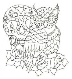 I've been meaning to draw an owl for ages now and I finally got around to it while trying to distract myself from freaking out about my first day o. Owl Design W. Animal Coloring Pages, Colouring Pages, Adult Coloring Pages, Coloring Books, Owl Tattoo Design, Tattoo Designs, Tattoo Ideas, La Luna Tattoo, Zentangle