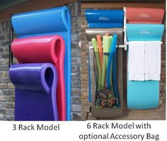 Pool Float Storage Ideas pool float organizer hanging towel rack by float storage Organizing Your Pool Deck Clutter