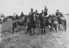 Geronimo at 101 Ranch, This photo of Geronimo at the 101 Ranch is one of three taken in June 11,1905. At the time Geronimo was still imprisoned at Ft. Sill OK. and guards accompanied him as a performer to the Milled's Wild West Show.