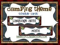 CAMPING THEME SCHEDULE CARDS-classroom theme {printables) - This 26 page resource will help you put together a cohesive looking schedule for your campground theme classroom. Preschool, Kindergarten, 1st, 2nd, 3rd, 4th, 5th, and 6th grade teachers will all enjoy using these cards! There are 52 different cards, so you're sure to find the exact ones to work in your classroom! Click through for more details! $