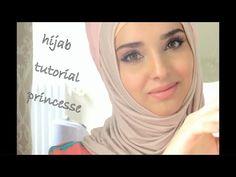 Hijab Tutorials - hijab Princesse with fleur de beauté - YouTube
