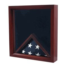 Flag Medal and award Flag Display Case Shadow Box-Our Military flag and medal display case is made of finely crafted wood with an elegant cherry finish. Medal Display Case, Award Display, Display Boxes, Folded Flag, Military Shadow Box, Military Gifts, Casket, Cherry Finish, Veterans Flag