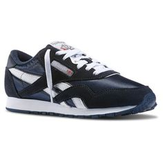 e6f4ff463c32c Reebok Females Classic Nylon in Team Navy   Platinum Size 5 - Retro Running