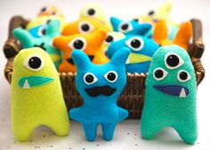 mini monsters by Lisaslittlemonsters, no pattern