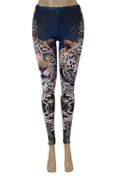 Leopard Guardian Leggings - $38 at OnlyLeggings.com #OnlyLeggings