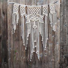 Macramé is one of the most stunning and classic forms of art the 1970s has left with us. This made to order wall hanging is inspired by that era of