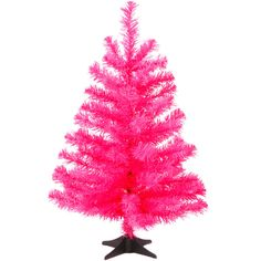 Buy Tesco 2.5ft Pink Tinsel Christmas Tree from our Christmas ...