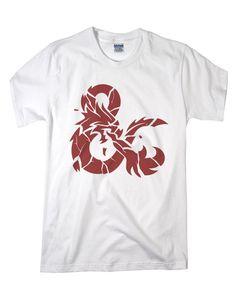 Dungeons and Dragons Cracked Logo White Shirt