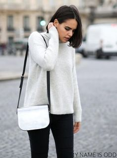 Look Urban Chic, Sud Express, Casual, Sportswear, Normcore, Turtle Neck, Sweaters, Hair, Style