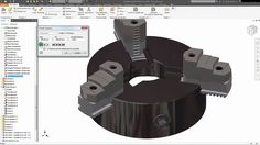 Inventor 2018 Plate for Lathe Simulation