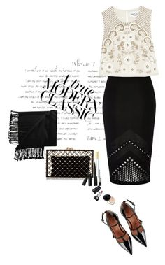 """""""Modern Classic"""" by juliehooper ❤ liked on Polyvore featuring River Island, Needle & Thread, RED Valentino, Charlotte Olympia, Marc Jacobs, New Directions, Jil Sander and modern"""