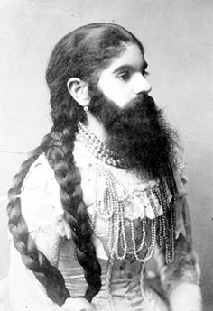 -Anna Gonlt, bearded lady, at Barnum Circus, 1880 (Image: Roger-Viollet/Rex Features) Barnum Circus, Circus Art, Vintage Circus Costume, Vintage Carnival, Steampunk Circus, Circus Fashion, Sideshow Freaks, Human Oddities, Bearded Lady