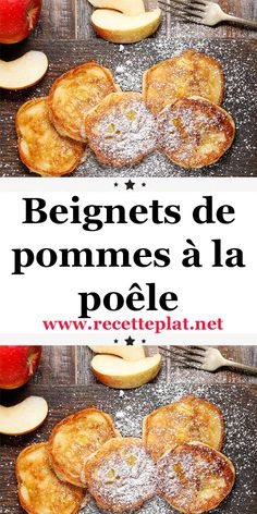 Easy Baking Recipes, Apple Recipes, Sweet Recipes, Cooking Recipes, Beignets, Mardi Gras, Crockpot Lunch, Scones Ingredients, Breakfast Dessert
