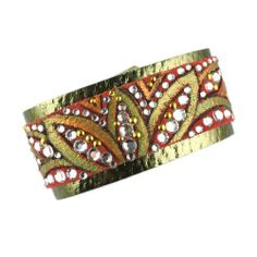 CMR One-of-a-Kind Small Length Clear Crystal & Red Leather Bracelet Something Silver. $125.00. Free standard shipping with $25 orders. Swarovski crystals. 6-1/4- to 6-3/4-inches long. One-of-a-kind hand painted leather bracelet. Custom snap closure