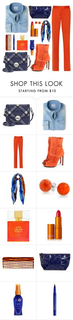 """""""Blue and Orange"""" by nansg ❤ liked on Polyvore featuring Marc by Marc Jacobs, MANGO, STELLA McCARTNEY, Gucci, Etro, Bling Jewelry, Kate Spade, Lipstick Queen, Mason Pearson and Bao Bao by Issey Miyake"""