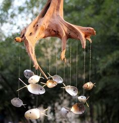 Driftwood Fish Wind Chime