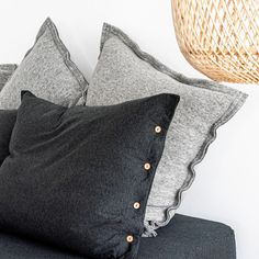 Pillowcase made from very soft jersey in graphite mélange colour. The natural fabric allows the skin to breathe and bed linen is as pleasant to the touch as your beloved t-shirt. Cotton Bedding, Linen Bedding, Couple Bed, Graphite, Duvet Covers, Pillow Cases, Cushions, Throw Pillows, House Styles