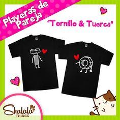 """Playeras de Pareja """"Tornillo & Tuerca"""""""