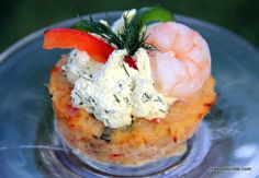 Low Calorie Shrimp Cupcakes With Lime Dill #CoolWhipFrosting #recipe #cbias