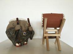 Taiko Drummer ceramic sculpture by Wataru Sugiyama at Hanson Howard Gallery