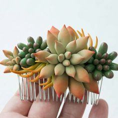 New succulents hair comb in our shop)