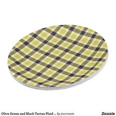 Olive Green and Black Tartan Plaid Paper Plates  sc 1 st  Pinterest & Turquoise and White Checkered Paper Plates