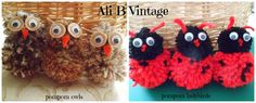 POMPOM OWLS AND LADYBIRDS - The Supermums Craft Fair