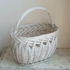 vintage large painted  gathering basket by ImSoVintage on Etsy, $38.00