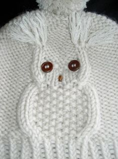 Diy Crafts - Child Knitting Patterns knit cap in solely 45 rounds --- owl motif Baby Knitting Patterns Supply : Mütze stricken in nur 45 Runden- Crochet Owl Hat, Knitted Owl, Baby Blanket Crochet, Knitted Hats, Easy Blanket Knitting Patterns, Owl Knitting Pattern, Crochet Patterns, Diy Crafts Knitting, Diy Crafts Crochet