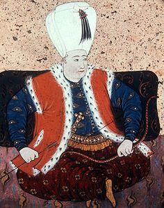 Sultan Osman II 1618-1622, portrait from nineteenth century manuscript no 3109, Topkapi Palace Museum, Istanbul, Turkey