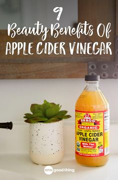 9 Beauty Benefits Of Apple Cider Vinegar · One Good Thing by Jillee Learn about 9 of the most surprising beauty benefits of apple cider vinegar, and how to take advantage of them for healthier skin and hair! Natural Remedies For Anxiety, Natural Cough Remedies, Cold Home Remedies, Natural Cures, Natural Healing, Natural Skin, Sleep Remedies, Natural Sleep, Homeopathic Remedies