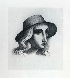 zrzavy divka v klobouku Roman Catholic, Painters, Art Gallery, Artists, Drawings, Illustration, Design, Trendy Tree, Art
