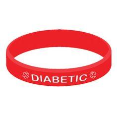 Diabetic Silicone Wristband Bracelet