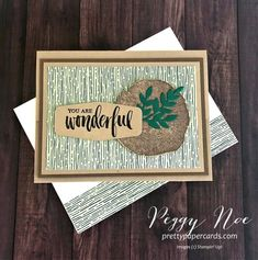 Pretty Paper Cards - Peggy Noe, Independent Stampin' Up! Demonstrator