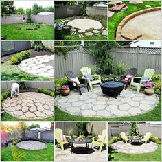 Image via: recaptured charm , home talk To make your backyard incredible how about trying this fire pit patio? To make it first you have to mark the circul Diy Fire Pit, Fire Pit Backyard, Patio Design, Garden Design, Outdoor Fire, Outdoor Decor, Outside Fire Pits, Pergola, Backyard Makeover