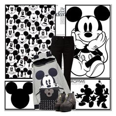 """""""Mickey Mouse"""" by aminkicakloko ❤ liked on Polyvore featuring Anja, Balmain, Disney, Alexander Wang, women's clothing, women, female, woman, misses and juniors"""