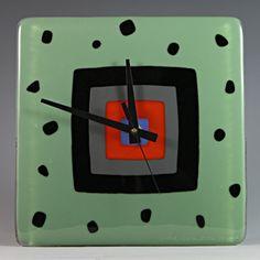 Jitterbug: Nina Cambron: Art Glass Clock | Artful Home