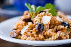 NYT Cooking: If you want to make a complete meal of this, you can add a green vegetable to the mix (see the variation below). I like to use fusilli because I like the way the tuna gets lodged in the twists of the corkscrews, but other types of pasta, such as penne or spaghetti, will be just fine.