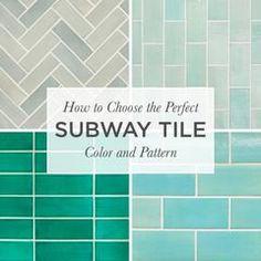 How to Choose the Perfect Subway Tile Color and Pattern – Mercury Mosaics Subway Tile Colors, Subway Tile Patterns, Color Tile, Mosaic Tiles, Mosaics, Tile Installation, Kitchen Colors, Kitchen Ideas, Tile Design