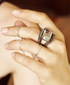 Helix Silver & Quartz Ring
