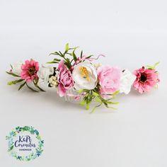 Grzebyk ozdobny kwiatowy do włosów, ślubny, wianek