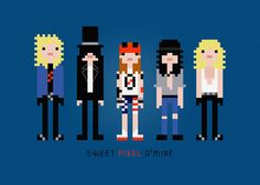 Guns N' Roses Rock Band Cross Stitch PDF Pattern Download. $4.00, via Etsy.