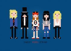 Guns N' Roses Rock Band Cross Stitch PDF Pattern Download. $4.00, via Etsy.
