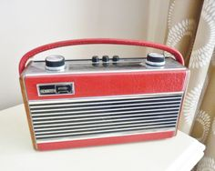 Racy red Roberts Rambler Radio from the mid-seventies.