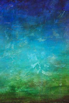 Océano profundo 36 x 36 acrílico pintura por CharlensAbstracts