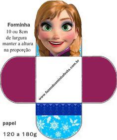 Molde Forminha de Docinhos Frozen - Anna Cute Frozen, Frozen Movie, Frozen Party, Disney Frozen, Free Printable Invitations, Party Printables, Free Printables, Frozen Paper Dolls, Frozen Cupcakes