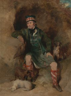 Portrait of Donald McIntyre, 1830 by Sir Edwin Landseer (English 1802-1873)