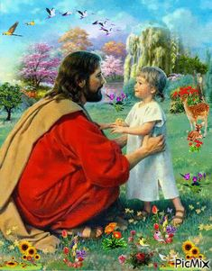 Jesus Mother, Blessed Mother, Jesus Prayer, Jesus Is Lord, Animated Love Images, Image Jesus, Warrior Of The Light, Jesus Artwork, Jesus Photo